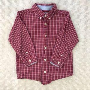 OshKosh B'Gosh Plaid Button Down Shirt Size 4T